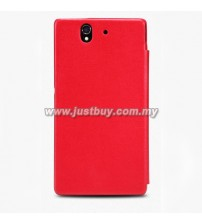 Sony Xperia Z Nillkin Leather Flip Case - Red