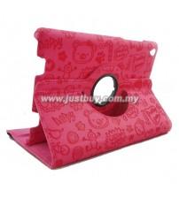 Xiaomi Mi Pad Rotating Cute Design Case - Pink